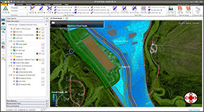 The 2D Floodplain Encroachment command automates the placement and analysis of floodplain encroachments along the river reach when performing a 2D steady or unsteady flow computation. This allows the modeler to have a better understanding of the true flow effects when attempting to determine the floodway in a complex flow situation. The modeler can examine the VxD (velocity x depth) factor, as this directly indicates greater flood hazard and hydraulic importance.